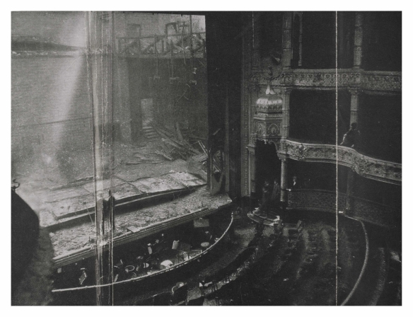 The interior of the Empire Palace Theatre after the fire on Tuesday May 9th, 1911