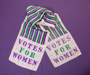 Suffragette's scarf from Edinburgh Museums and Galleries