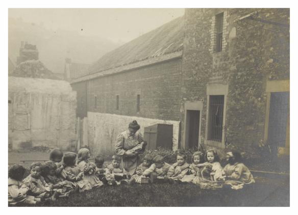 Schoolchildren in St Saviour's Child Garden