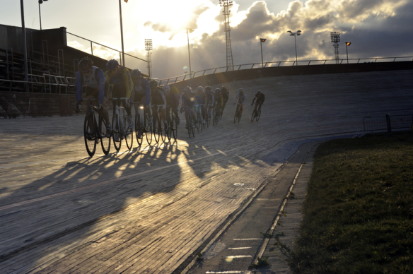 Track cyclists, Meadowbank Veldrome