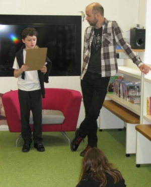 pupil reading presentation class