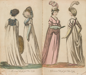 Morning and afternoon dress, 1799