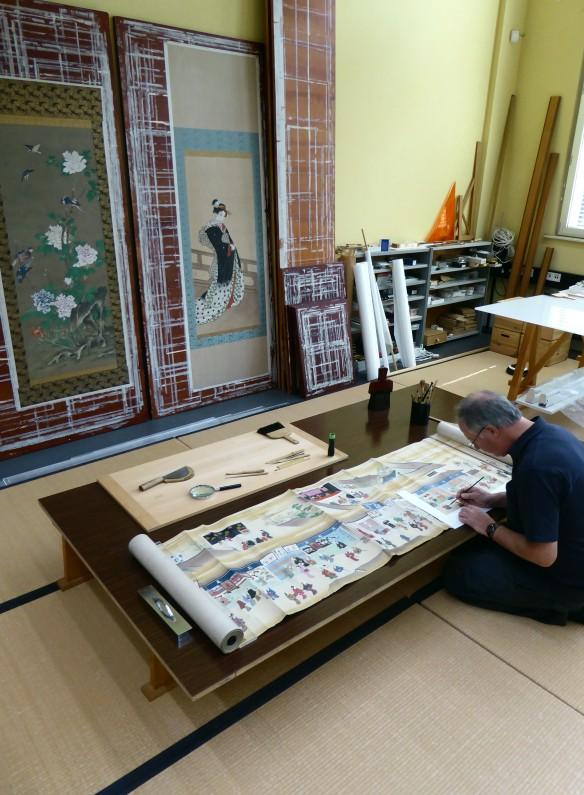 Moromasa Scroll in workshop