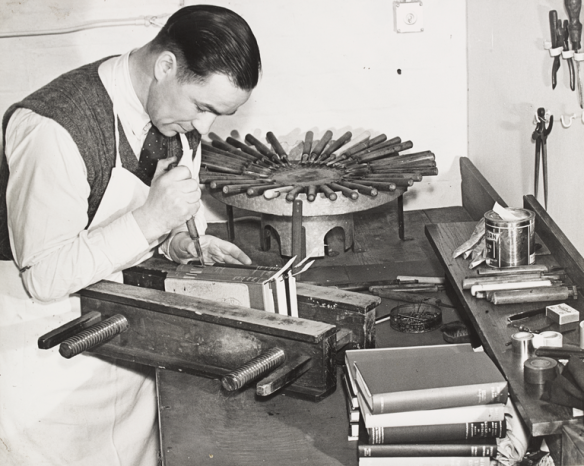 At work in Edinburgh Public Libraries' Bindery Department