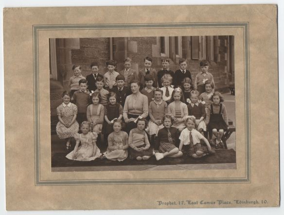 Kathleen Glancy's class photograph from P1 shared by Dean Village Memories