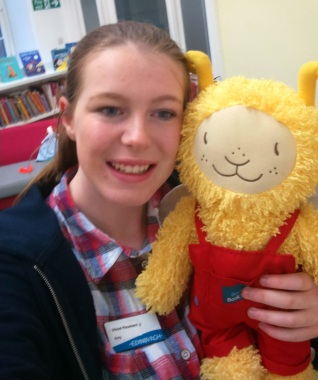 Amy with Bookbug