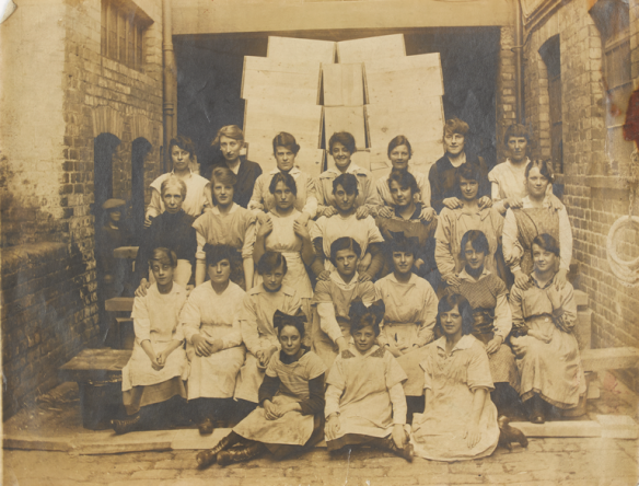Group portrait of female staff workers at Wm. Cummings & Son Ltd