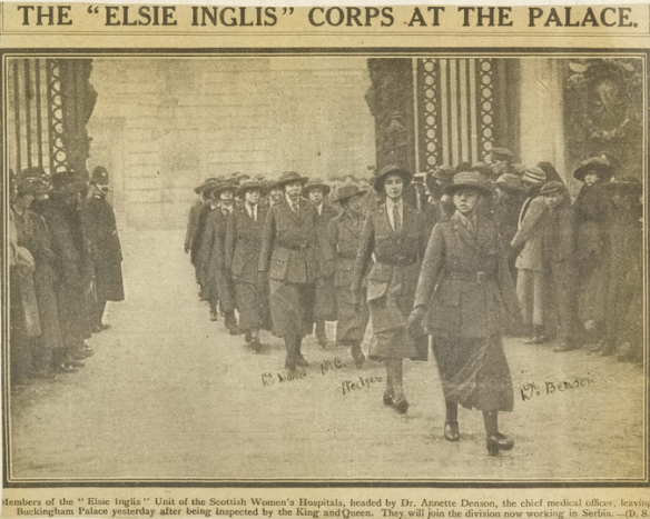 """The """"Elsie Inglis"""" Corps at the Palace"""