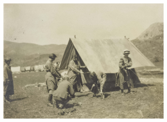 Setting up camp at Verbliani