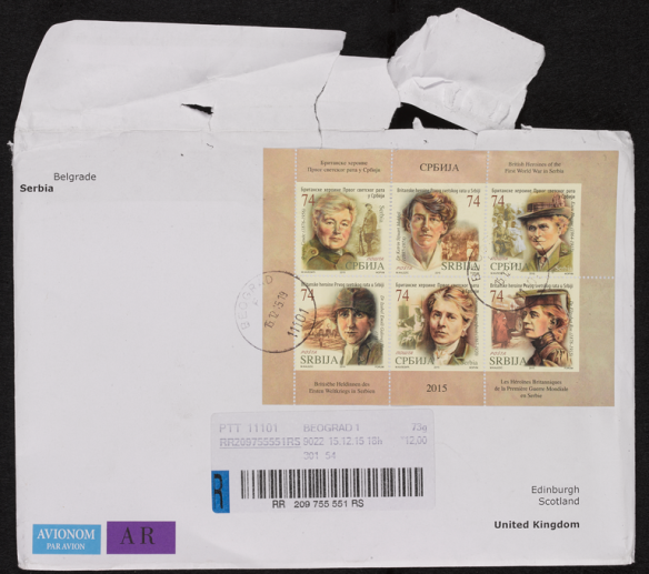 Serbian stamps commemorating heroines from the Scottish Women's Hospitals