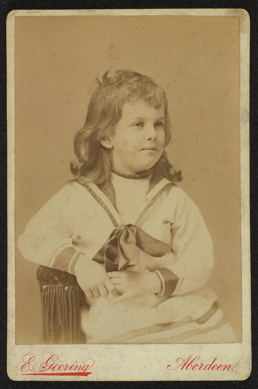 Ethel Mary Moir, aged about 5