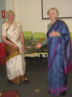 Sari wearing