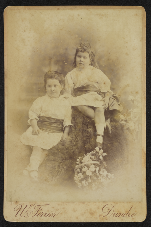 Ethel's younger twin sisters Ida and Olive Moir