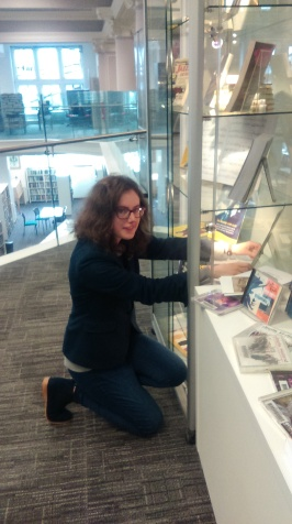 Putting up Library display