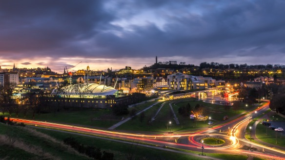Photograph of Scottish Parliament and Dynamic earth