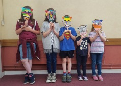 Oxgangs Library - fox mask craft event