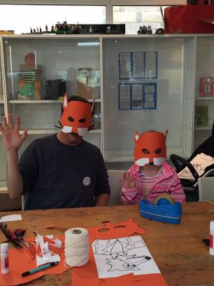 Portobello Library - fox masks crafts