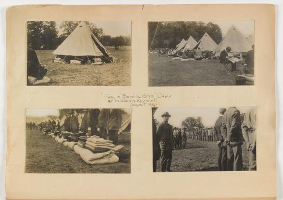 Public School Boys Camp, 16th Middlesex Regiment, August 1914