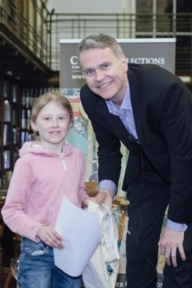 Photograph of Councillor Richard Lewis and Green Pencil Award winner