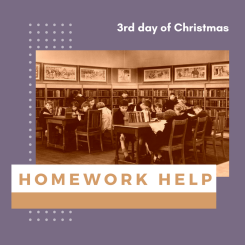 3rd day of Christmas: homework help