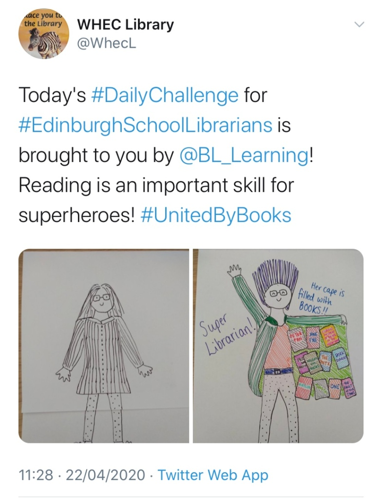Twitter post with recommendations from School Librarians