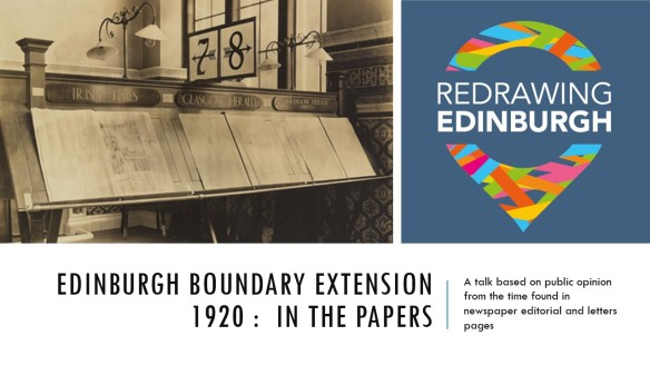 Advert image for Edinburgh Boundary Extension 1920: In the papers Facebook event