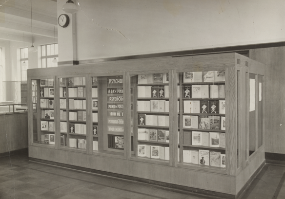 Interior of Fountainbridge Library with book shelves