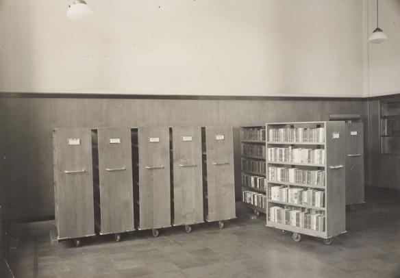 Interior of Fountainbridge Library with bookshelves