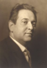 Portrait of composer Erich Korngold
