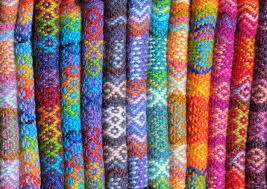 Collection of colourful textiles
