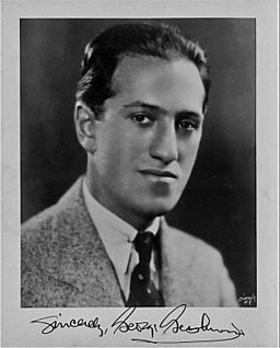 Signed portrait photograph of George Gerschwin